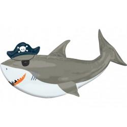 Ballon aluminium géant - Requin pirate