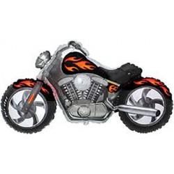 Ballon aluminium - Moto noire