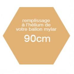 Hélium pour ballon mylar de 90 cm