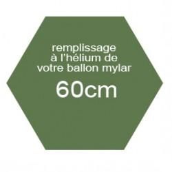 Hélium mylar 60cm et Chiffre géant
