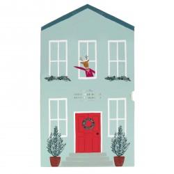 Calendrier de l'Avent en papier - Maison festive