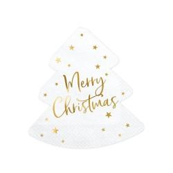 20 serviettes - Merry christmas sapin
