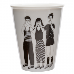 Cup - Hear see and shut up