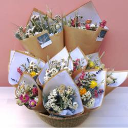 Bouquet de fleurs séchées - Taille S+