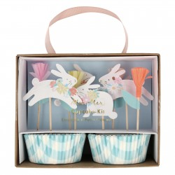 Kit cupcake - Lapin printemps pastel