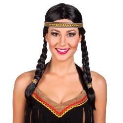 Perruque Indienne Kewanee avec bandeau