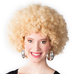 Perruque Afro blond