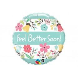 Ballon aluminium - Feel Better Soon - Pastel Flowers