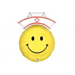 Ballon aluminium - Smile face nurse
