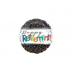 Ballon aluminium - Happy retirementl