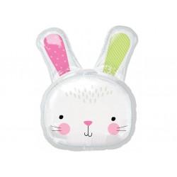 Ballon aluminium géant - Hello Bunny