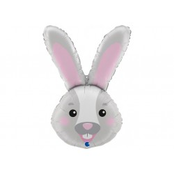 Ballon aluminium - Tête de lapin