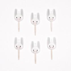 6 bougies - mini lapin