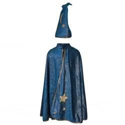 Cape de sorcier - Bleu et or 5-6ans