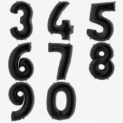 Grand ballon chiffre - Noir