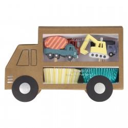 Kit cupcake - Camion et construction