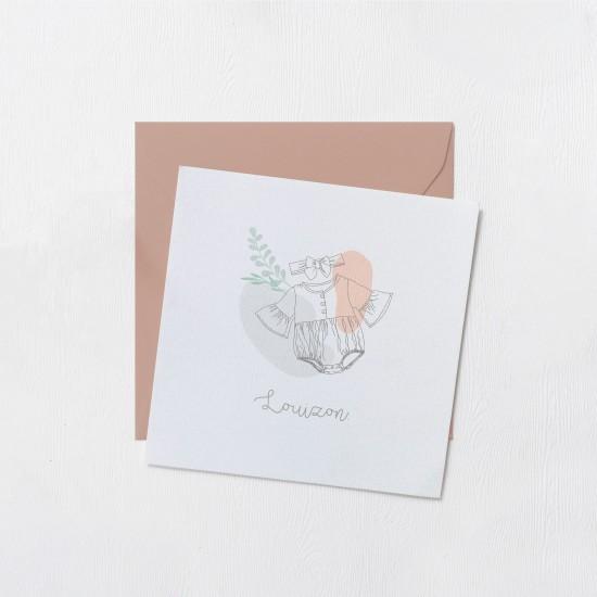 Faire-part Odilon collection - Louizon Blanc