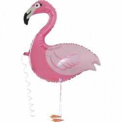 Ballon marcheur - Flamant rose