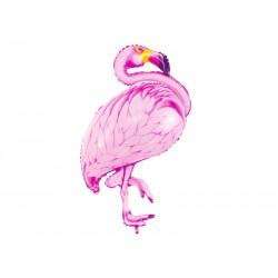 Ballon aluminium - Grand Flamant rose