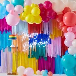 Kit arche à ballons et rideau de rubans - Multicolore