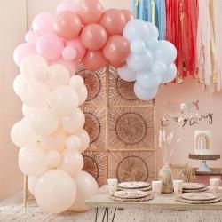 Kit arche à ballons - Pastel crème, rose, terracotta et bleu