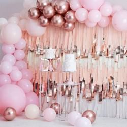 Kit arche à ballons de luxe - Rose et or rose chrome (200 ballons)