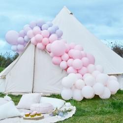 Kit arche à ballons de luxe - Dégradé rose et lavande (200 ballons)