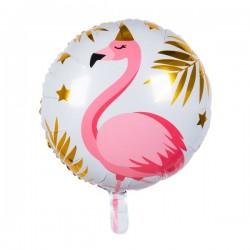 Ballon aluminium - Flamant rose tropical