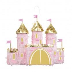 Pinata - Château de princesse rose