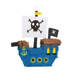 Pinata - Bateau de pirate bleu