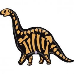 Ballon aluminium - Brontosaure squelette géant