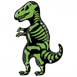Ballon aluminium - Tyranosaure squelette géant