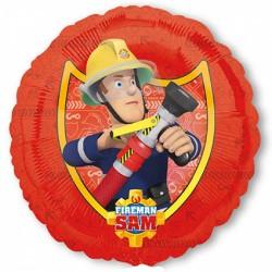 Ballon aluminium - Sam le pompier rond