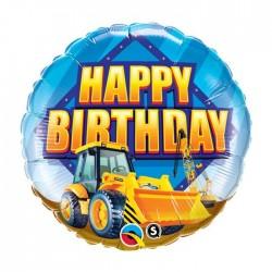 Ballon aluminium Happy Birthday -Construction