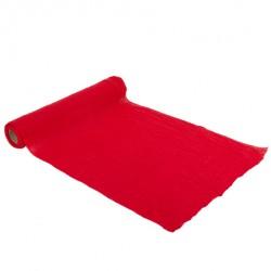 Chemin de table - Mousseline rouge