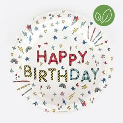 8 assiettes - Happy Birthday