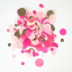 Mix confettis - Rose et or