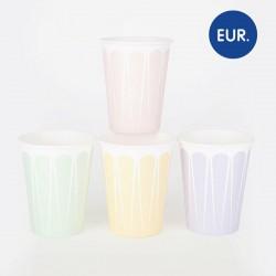 8 gobelets - mix pastel