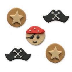Décorations en pâte à sucre - Pirate ahoy!