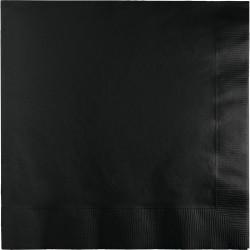 50 serviettes en papier - Noir