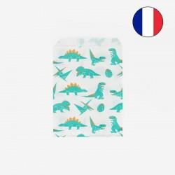 10 pochettes - Dinosaure vert