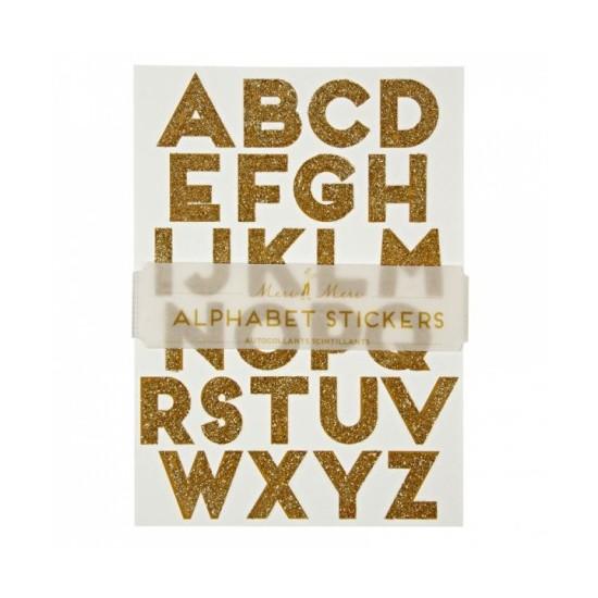 Alphabet Stickers - Glitter Or