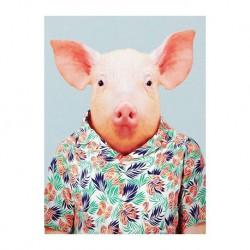 Mini carte zoo-cochon domestique