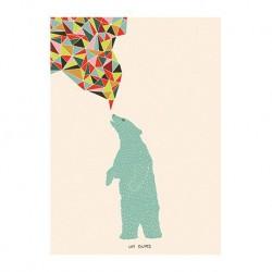 Carte - L'ours et l'oiseau