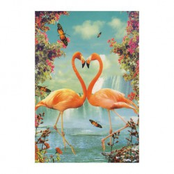 Carte vintage - Flamants roses