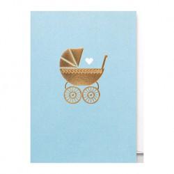 """Carte naissance """"Berceau Bleu"""""""
