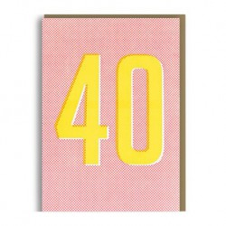 """Carte Anniversaire """"40-Forty"""""""