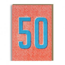 """Carte Anniversaire """"50-Fifty"""""""