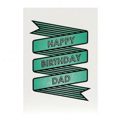 "Carte Anniversaire ""Happy Birthday Dad"""