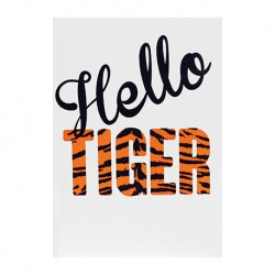 "Carte ""Hello Tiger"""